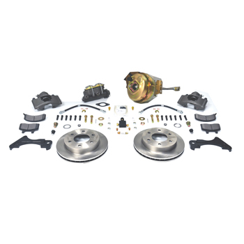 Front Power Disc Brake Conversion Kit For 1967 To 1970 GM 1/2 Ton Truck With 2WD